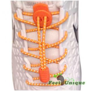 Reflecterend oranje schoenveters met sluitsysteem