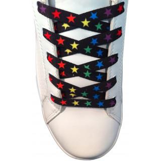 Schoenveters - 10mm Gekleurde sterren