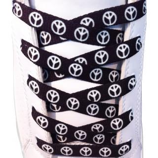 Schoenveters - 10mm Peace zwart