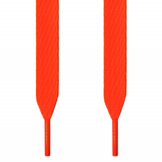 Extra brede fluoriserend oranje schoenveters