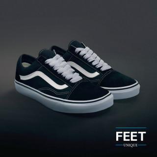 Extra brede lichtgrijze schoenveters