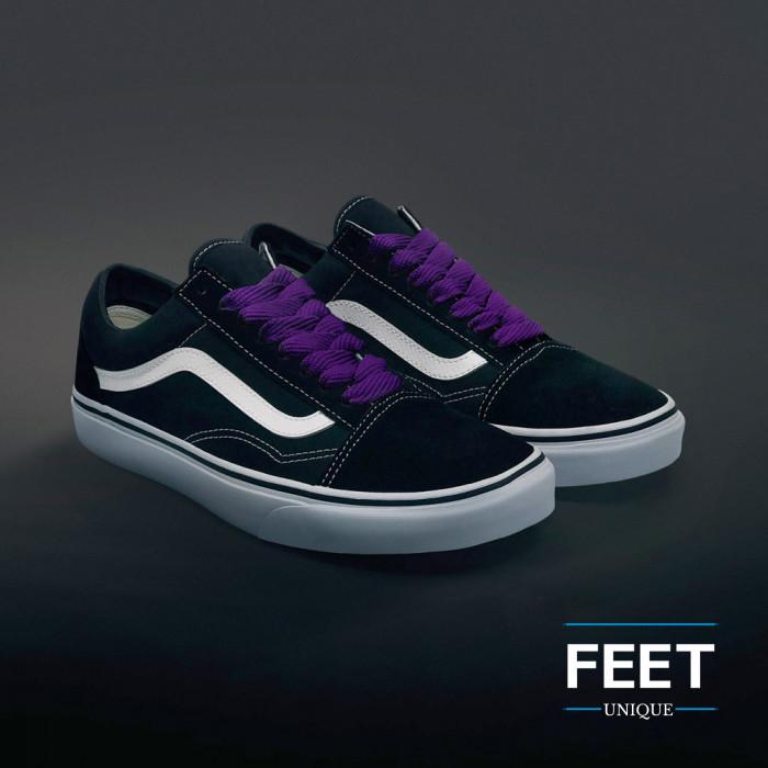 Extra brede paarse schoenveters