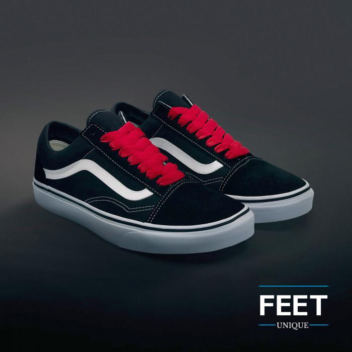 Extra brede rode schoenveters