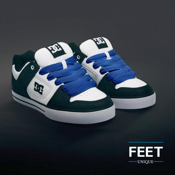 Super brede blauwe schoenveters