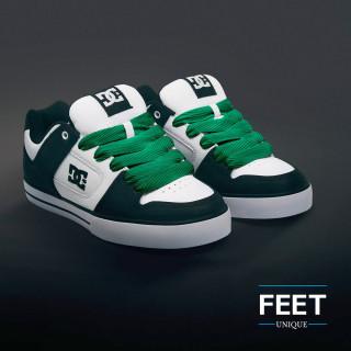 Super brede groene schoenveters