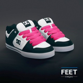 Super brede felroze schoenveters