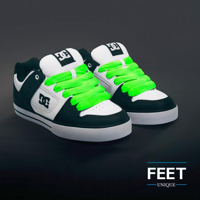 Super brede fluoriserend groene schoenveters