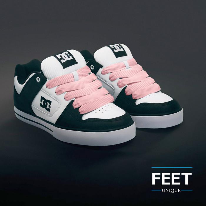Super brede roze schoenveters