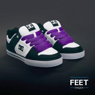 Super brede paarse schoenveters