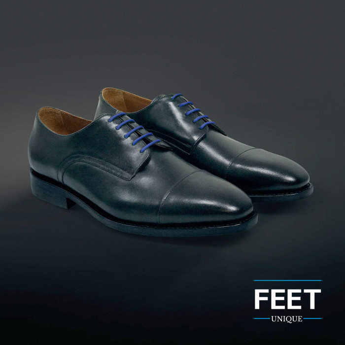 Dunne ronde blauwe schoenveters