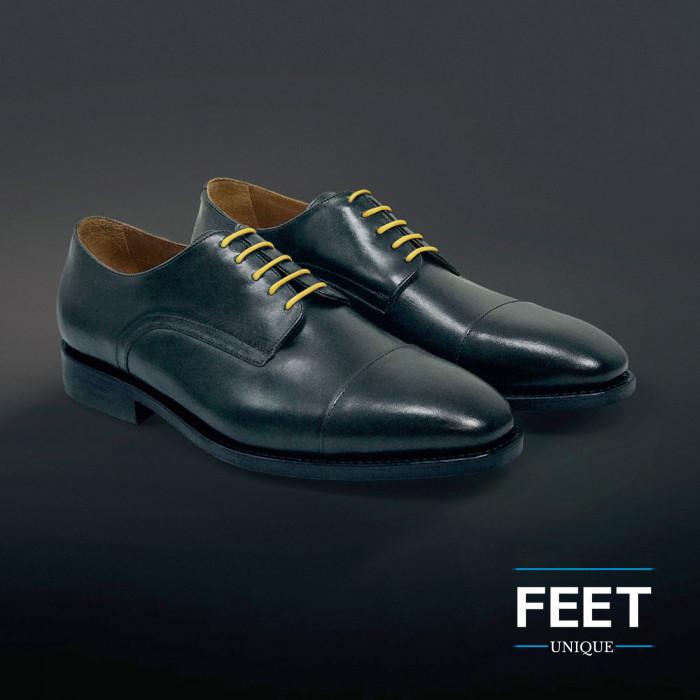Dunne ronde gele schoenveters