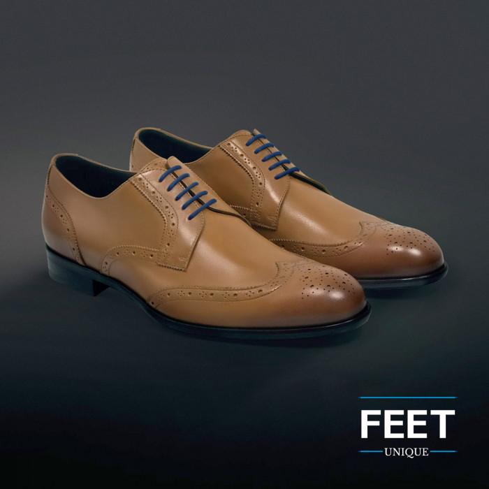 Dunne ronde marineblauwe schoenveters