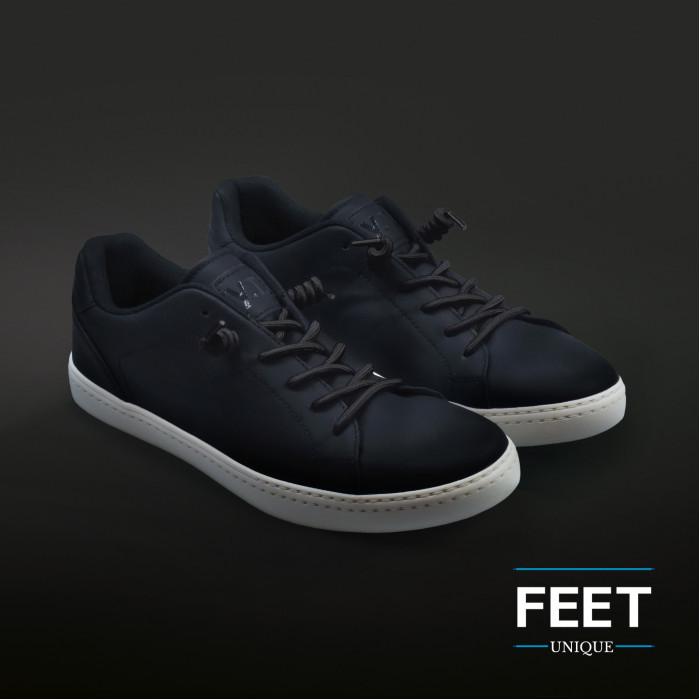 Zwarte spiraal schoenveters