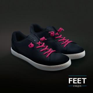 Hot pink gekrulde schoenveters