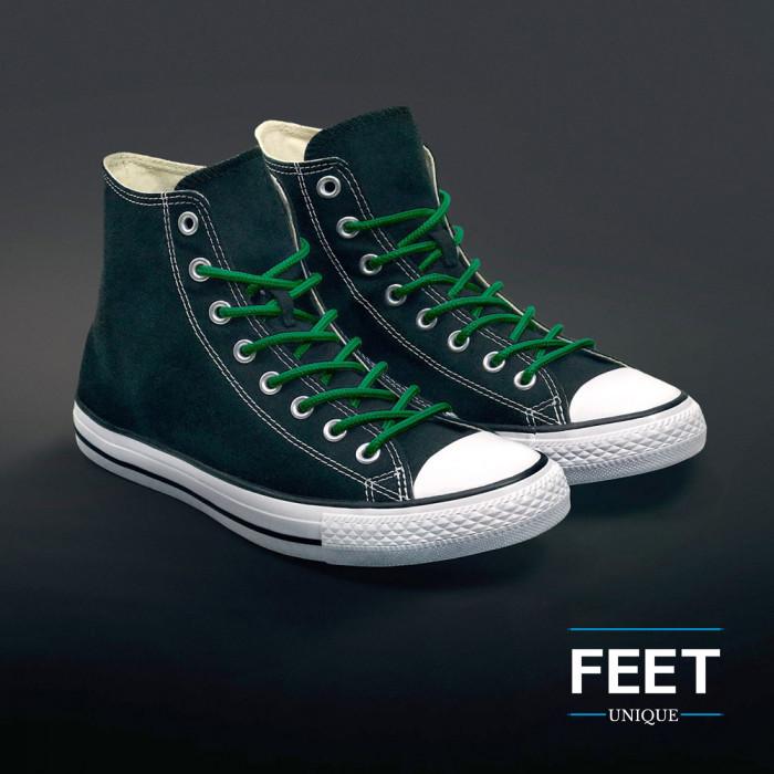 Ronde groene schoenveters