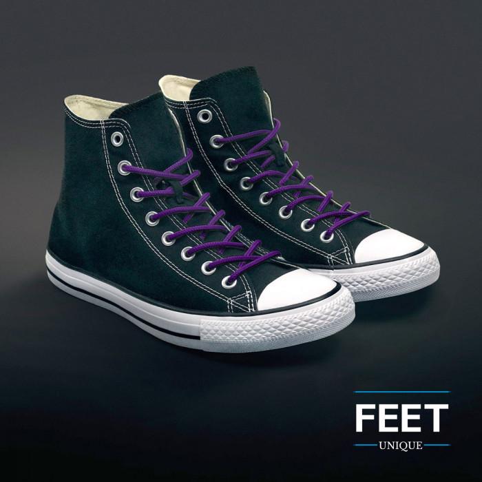 Ronde paarse schoenveters