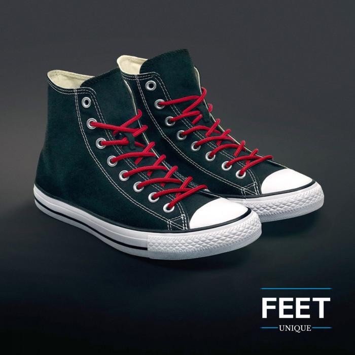 Ronde rode schoenveters