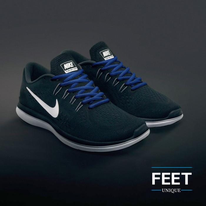 Ovale blauwe schoenveters