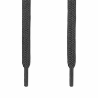 Elastische platte donker grijze schoenveters (zonder strik)