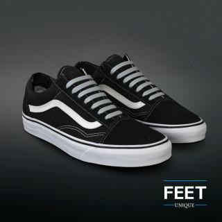 Light grijze no-tie Siliconen schoenveters