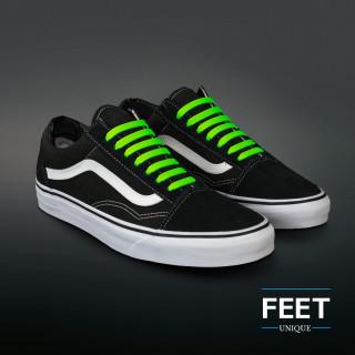 Neon groene no-tie Siliconen schoenveters