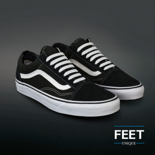Witte no-tie Siliconen schoenveters