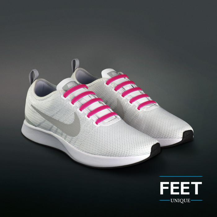 Hot Pink no-tie Siliconen schoenveters