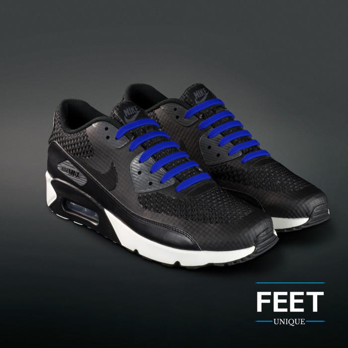 Blauwe no-tie Siliconen schoenveters