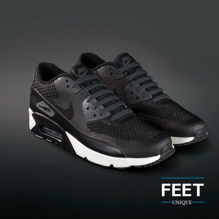 Donker grijze no-tie Siliconen schoenveters