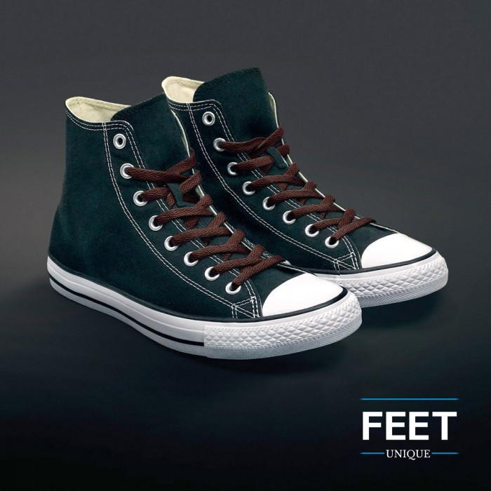 Platte donkerbruine schoenveters