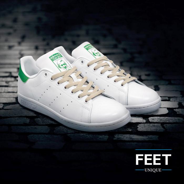 Platte lichtbruine schoenveters