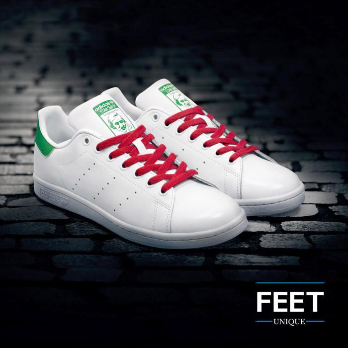 Platte rode schoenveters