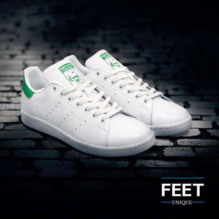 Platte witte schoenveters