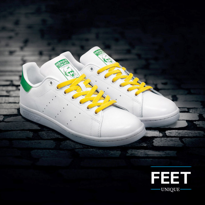 Platte gele schoenveters