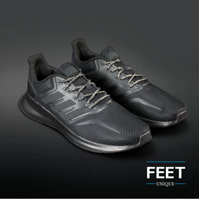 Adidas Yeezy - Schoenveters Zwart met Zilver
