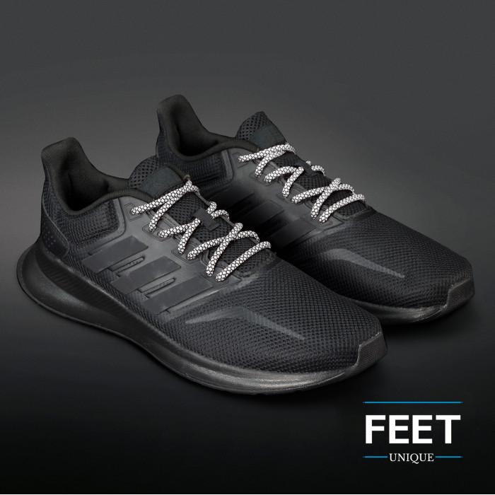 Adidas Yeezy - Schoenveters  Zwart met Wit