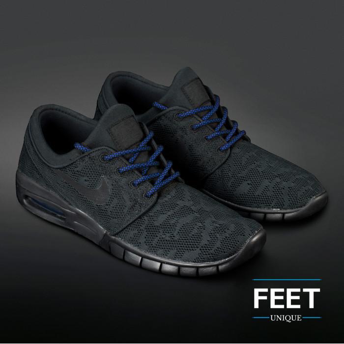Adidas Yeezy - Veters Zwart met Blauw