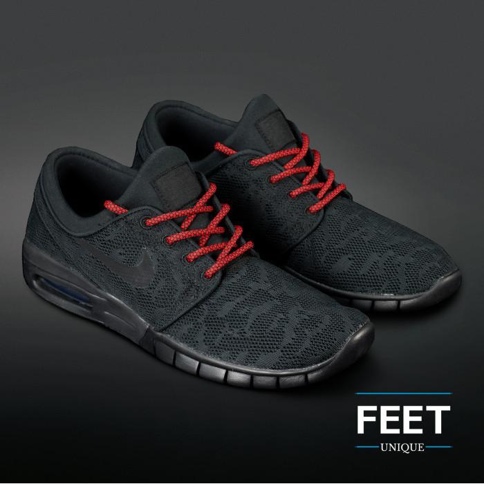 Adidas Yeezy - Schoenveters Zwart met Rood